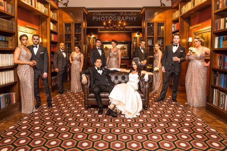 Wedding Party, Los Angeles athletic club, inspiration, bridesmaids, groomsmen, bride, groom, great gatsby, old hollywood theme