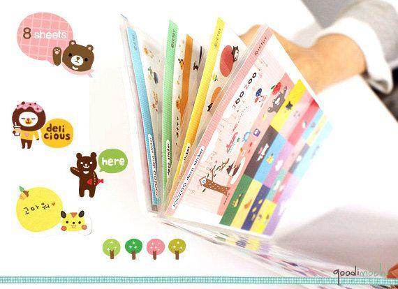 Happy Zoo Cute Animals Diary Sticker Set with by GoodiMochi $4.20 + $2.50 etsy: goodimochi