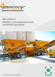 mobilne węzły betoniarskie FIBO Intercon od PROXY Trade Sp.z o.o.
