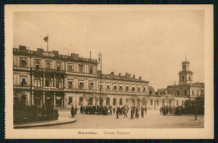 Warszawa przedwojenna - dworzec kolei Warszawsko-Wiedeńskiej