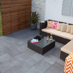 Charcoal is the new Black (in pavers of course)!  These affordable pavers bring style to any outdoor area.