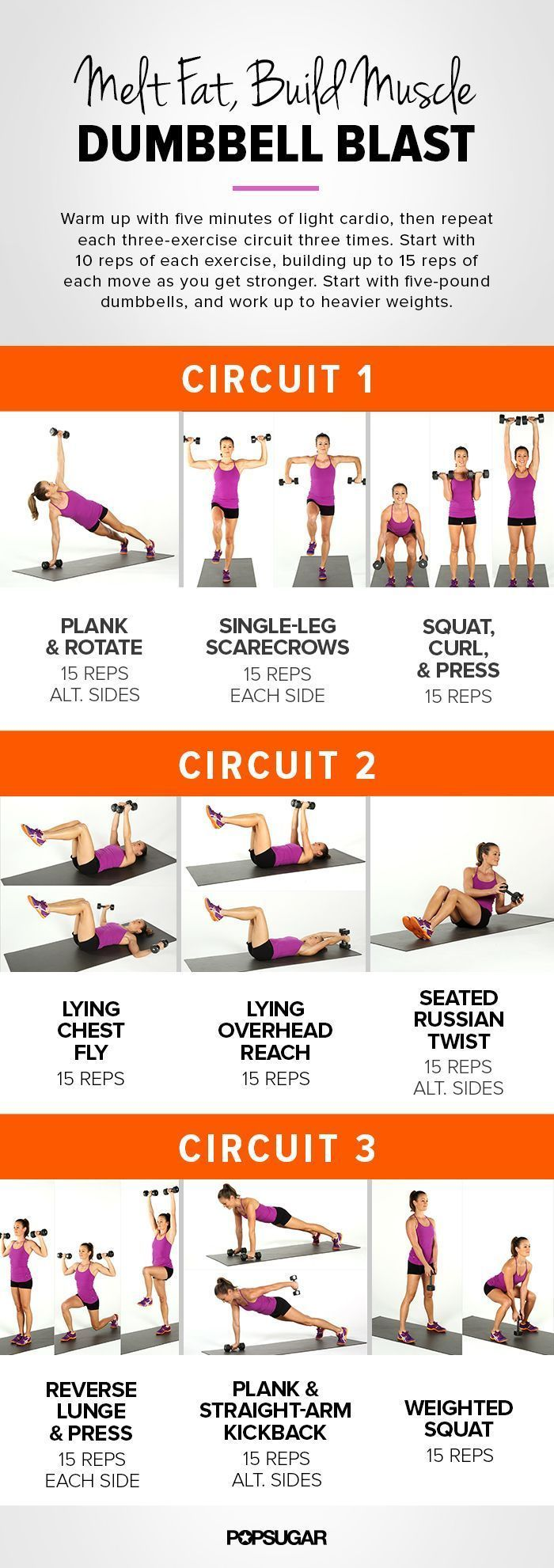 Dumbbells circuit