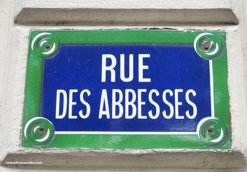 #Montmarte #street #sign #Paris #France