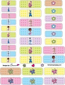 {free} printable Doc McStuffins, Stickers