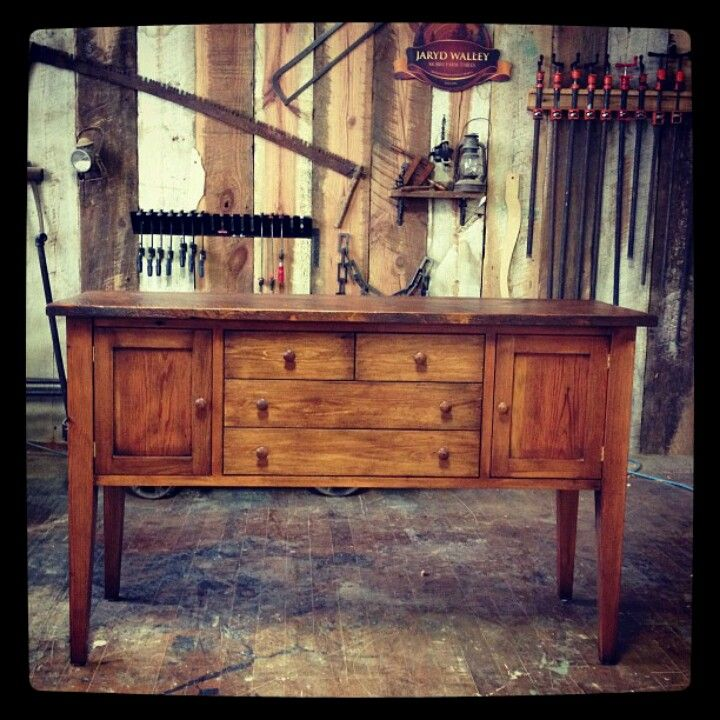 Hand Crafted Sideboard By American Made Artisan Jaryd Walley Mobili Farm  Tables