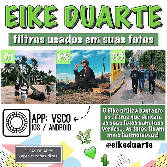 🌵FILTROS DO EIKE DUARTE🌵 Fotos: @eikeduarte! Ele usa filtros nos tons verdes para realçar o natural da foto e deixar o seu feed mais harmônioso! 💚DICA: Feed verde cai muito bem com fotos de paisagens ADM    @hiureoficial 🐼 SNAP    aguiarhiure 👻 #azul #feed #theme #blur #ediçao #foto #jeans #boanoite #dica #app #vsco #tutorial #filtro