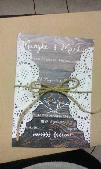 My wedding invites handmade by my