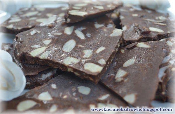 kierunek zdrowie: Domowa czekolada - przepis pyszny i zdrowy:-)