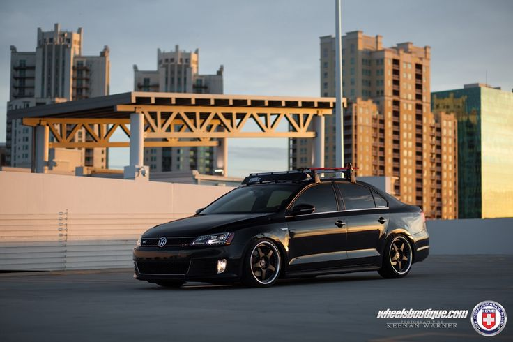 Volkswagen Jetta GLI with HRE 595RS in Satin Black