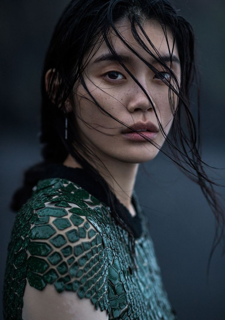Ming Xi by Gilles Bensimon for Vogue China January 2016