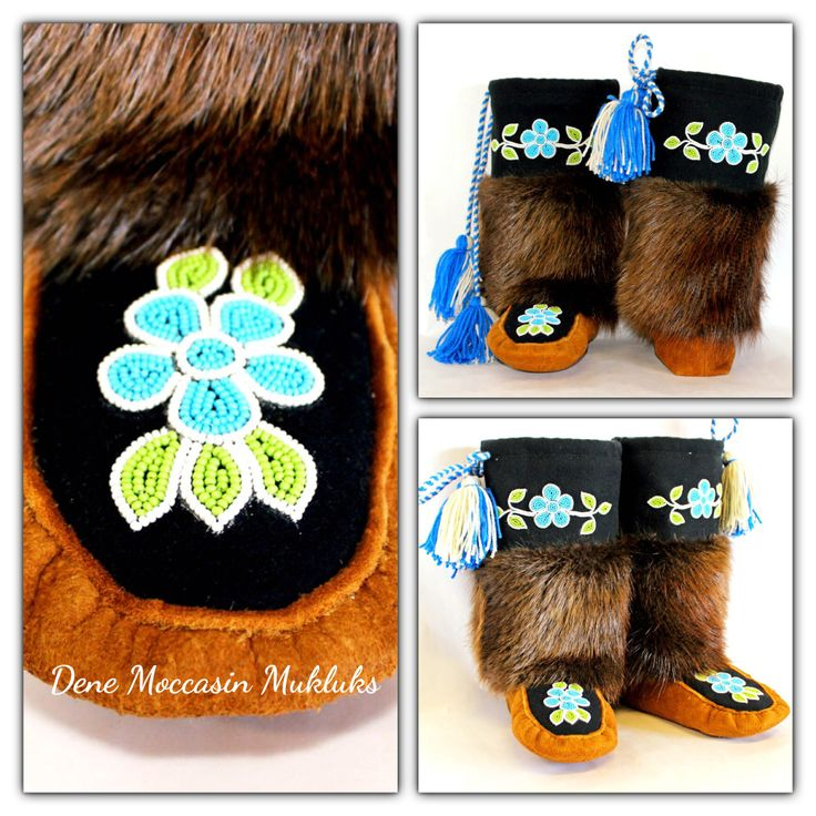 Dene Moccasins Mukluks made by a Tlicho.
