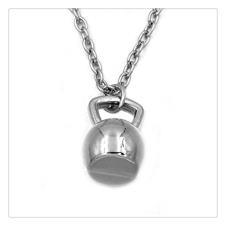 Gym Fitness Weightlifting Charm Necklace