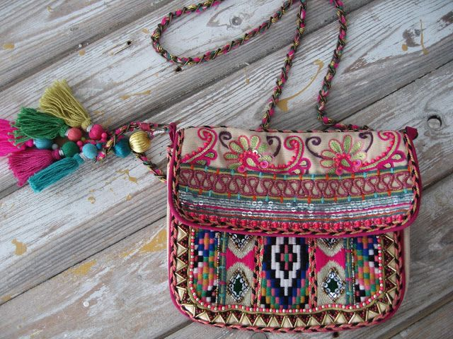 ☮ American Hippie Bohéme ☮ Rose Boho ☮ Bag