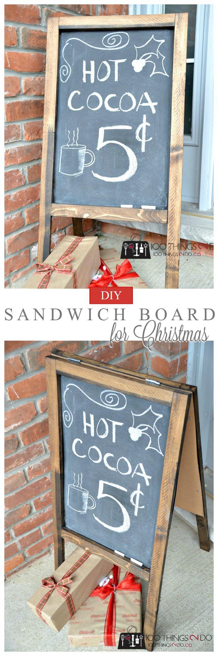 DIY Sandwich Board (PLus design ideas for Christmas!)