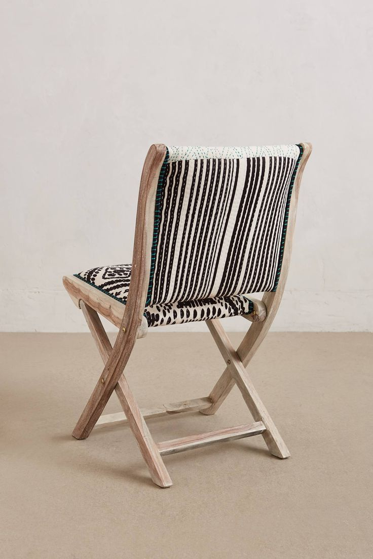 Go green with our new reclaimed teak western decor furniture available - Elephant Terai Folding Chair