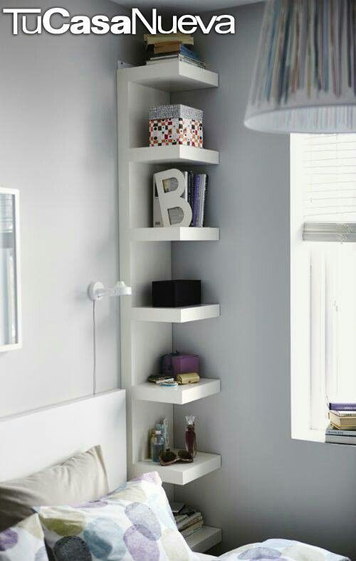 I like the idea of these for our small bedroom, like his and her shelves