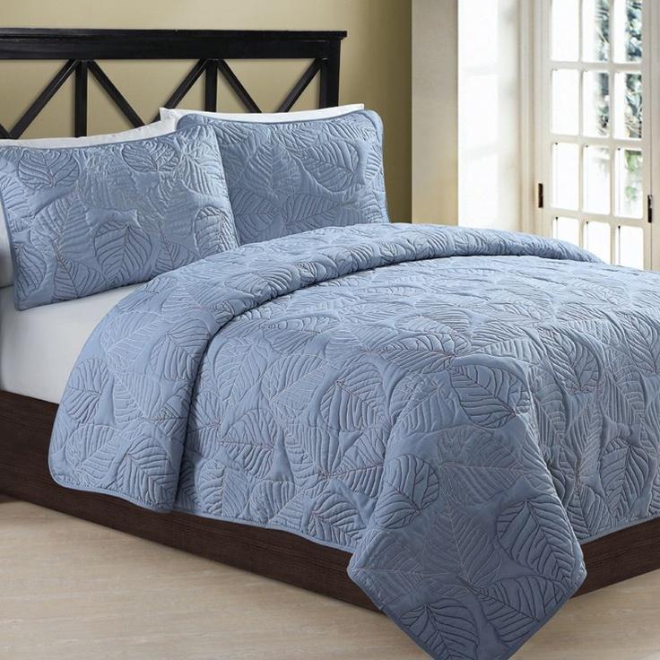 Simple Blue King Size Quilt Set