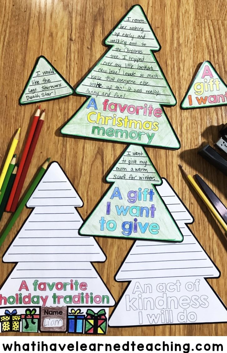 A fun Christmas Tree Craftivity Flap Book where students can write or draw about their favorite Christmas memory, Christmas tradition, an act of kindness they will do and a gift they want to give.