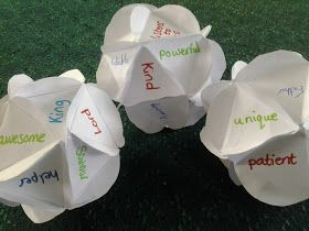 Flame: Creative Children's Ministry: Paper globes: Who is God? Great for Bible Study craft or small group activity.