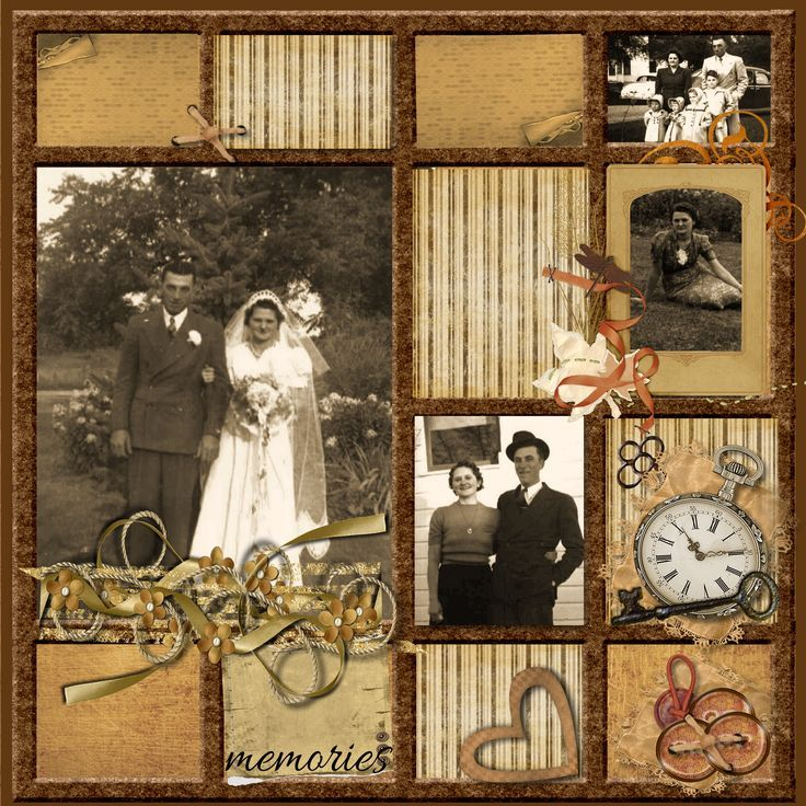 scrapbooking layouts for dads | My Mom & Dad - Scrapbook.com (not really mine; the caption came with ...