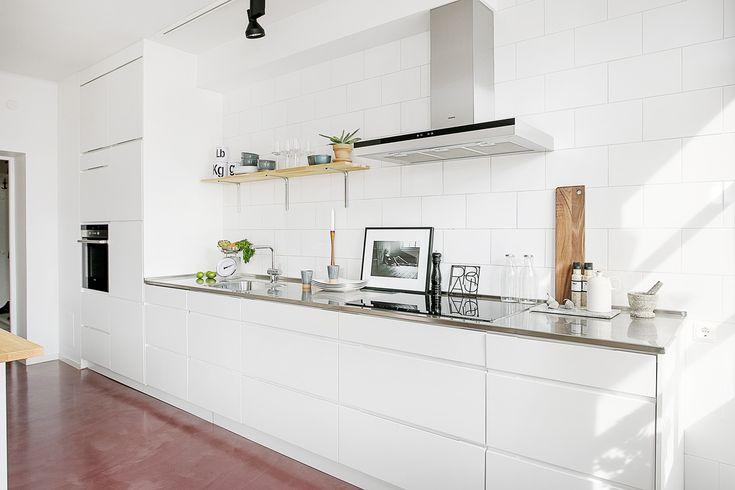 kücheneinrichtung kleine küche einrichten industrieller look - offene küche planen
