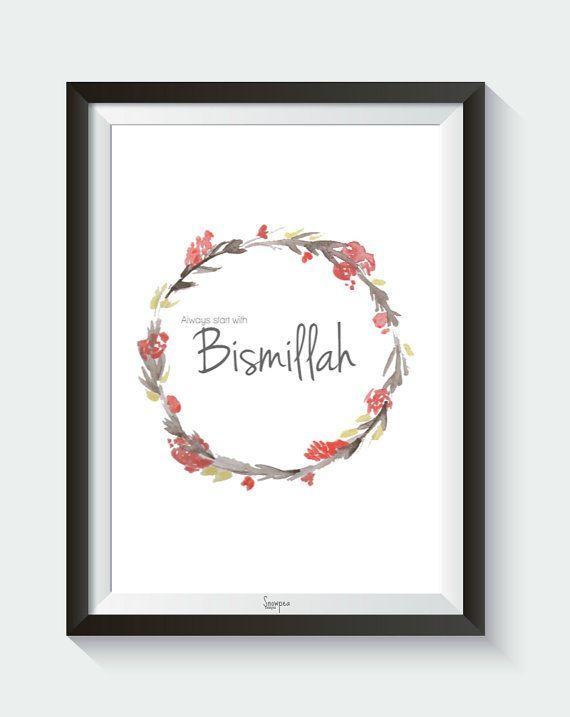 Always Start With Bismillah Digital Download by SnowpeaDesign