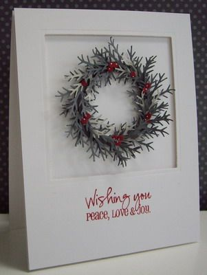 Christmas Wreath by Loll Thompson - Cards and Paper Crafts at Splitcoaststampers