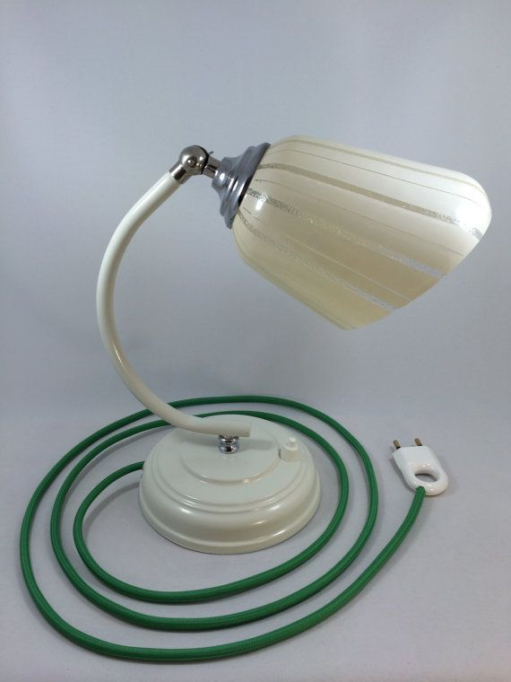 Restored Midcentury art deco table lamp by Lambater on Etsy, €120.00