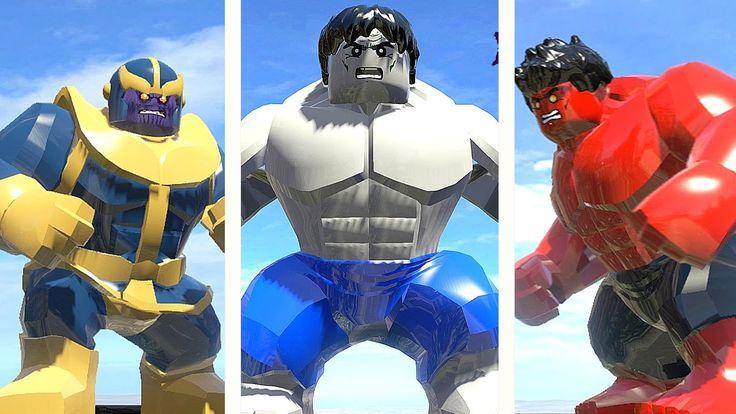 GREY HULK (TRANSFORMATION) vs RED HULK vs THANOS (LEGO Marvel Super Heroes)