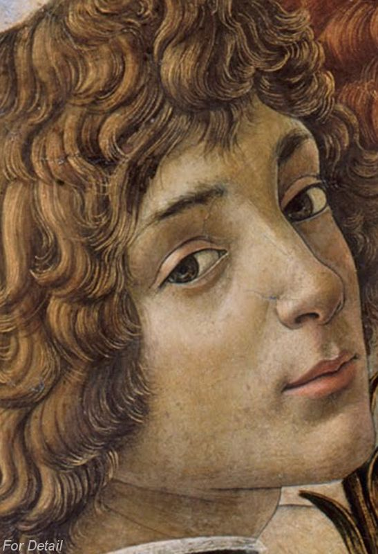 Sandro Botticelli - Mary with the Child and Singing Angels (1477) - Detail