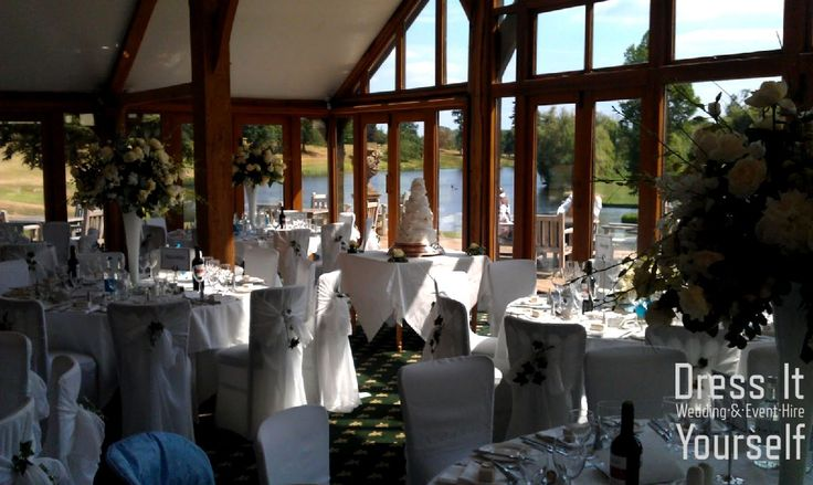 Brocket Golf Club - Oak Room - Wedding (250) Ideas for decorating your wedding breakfast in the Oak Room at Brocket Hall