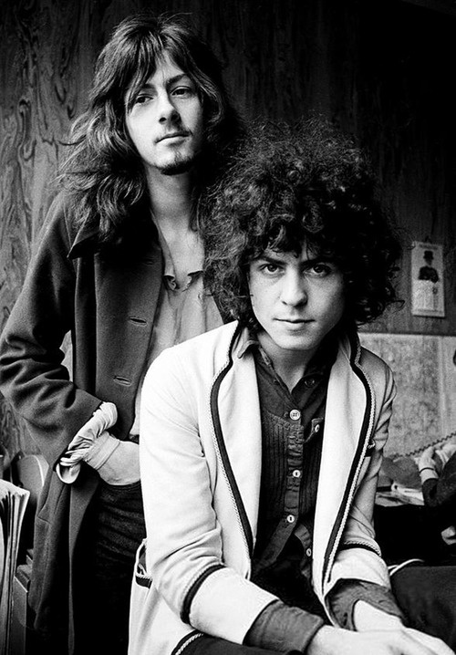 Marc Bolan and Steve Peregrin of Tyrannosaurus-Rex, photo by Chris Walter, 1969