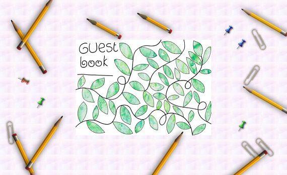 green wedding tree guest book wedding printable watercolor