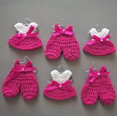Ideas para el hogar: Tutorial: recuerdos de baby shower a crochet
