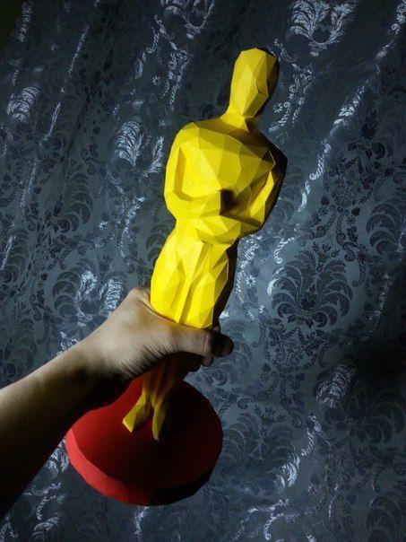 Oscar Academy Award Free Papercraft Download - http://www.papercraftsquare.com/oscar-academy-award-free-papercraft-download.html#AcademyAwards, #Oscar, #Reward