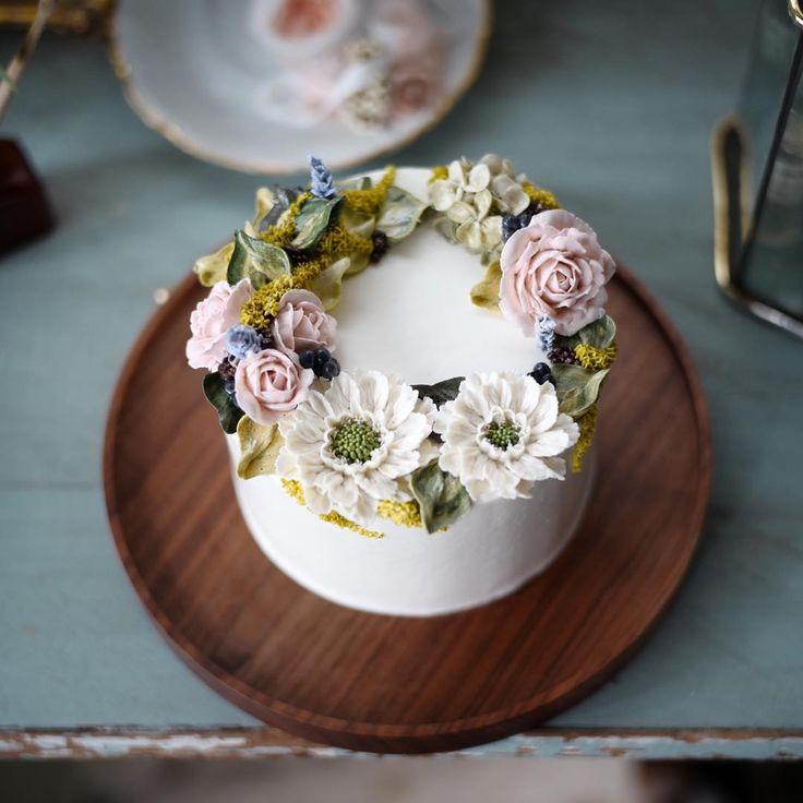 weekly cake 16.09.05 #플라워케이크 #flowercake