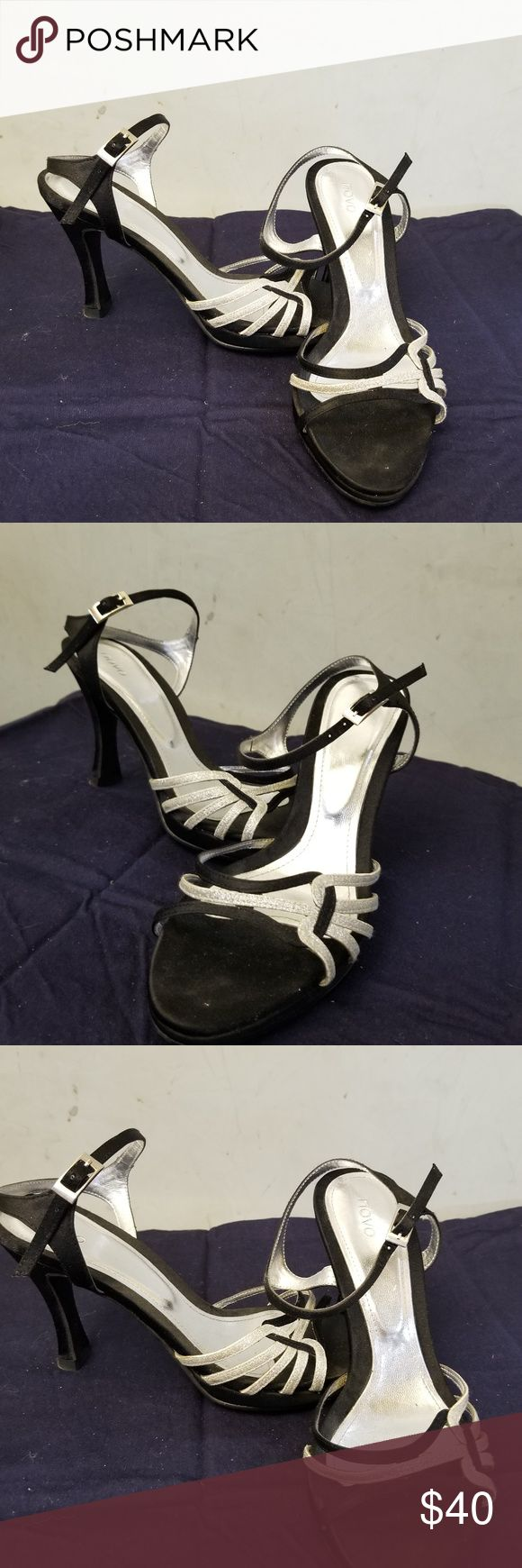 NWOT NOVO dress sandals NWOT in perfect condition brand new NOVO black and silver dress sandals no box... Novo Shoes Sandals