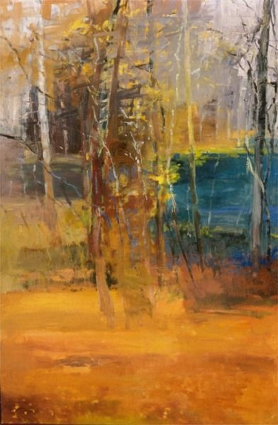 Coldwater Pond oil on canvas by Forrest Moses