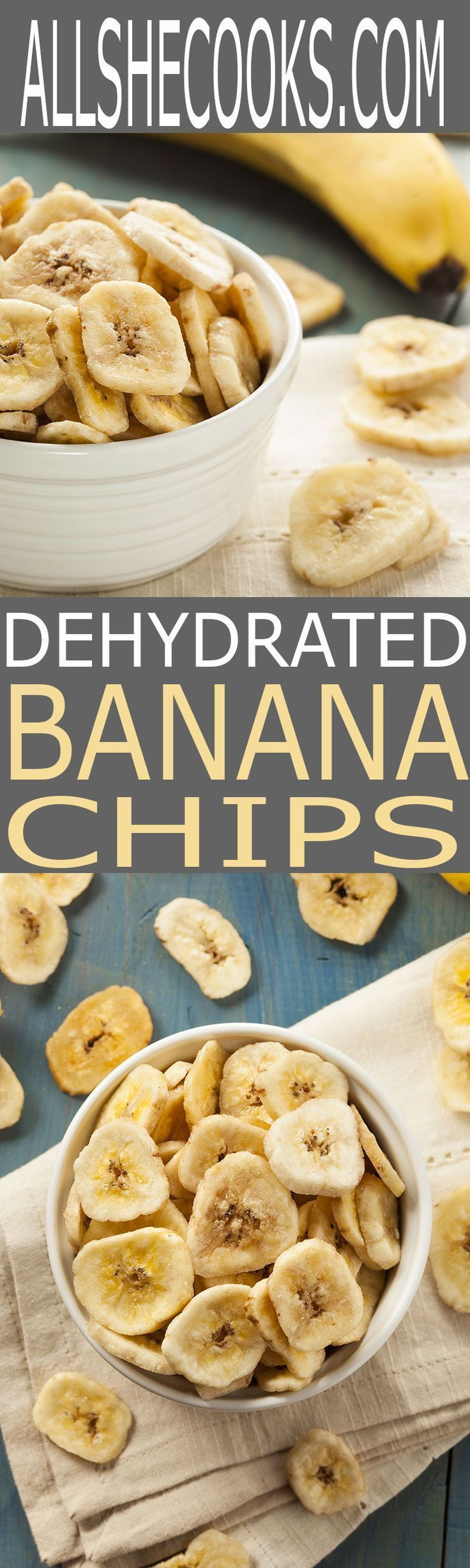 Dehydrated Banana Chips are easy to make at home with or without a dehydrator. Banana Chips make for a healthy snack option that will fill you up until your next meal.