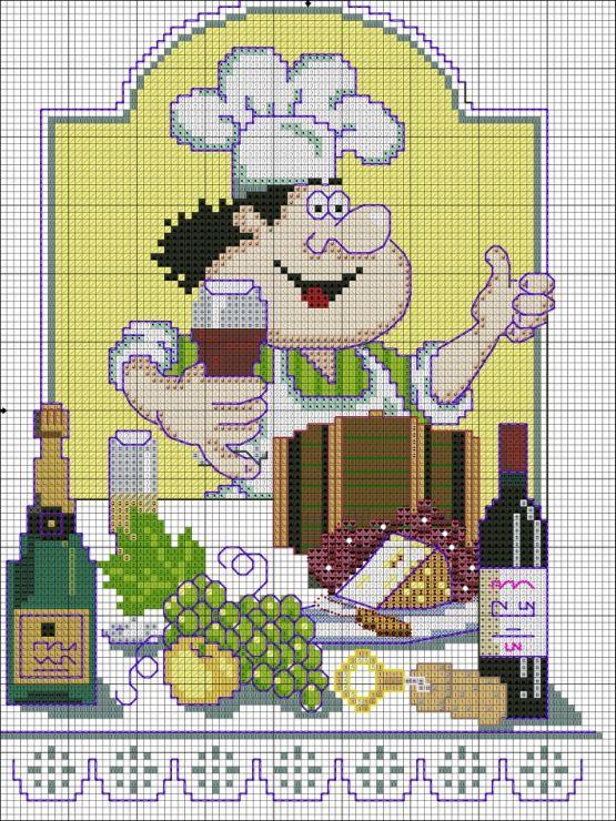 17 migliori immagini su punto croce cucina su pinterest for Immagini punto croce