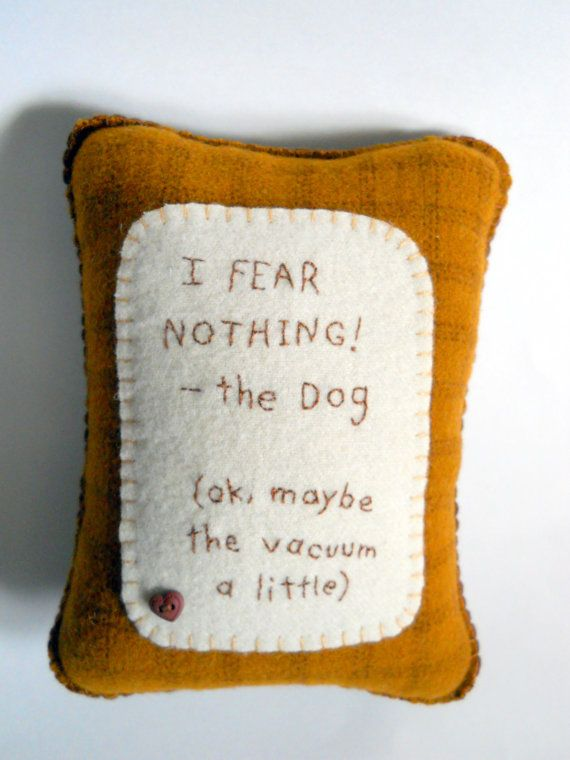 Throw Pillows With Dog Sayings : Novelty Dog Pillow - Funny Pet Throw Pillow - Dog Bed Pillow -