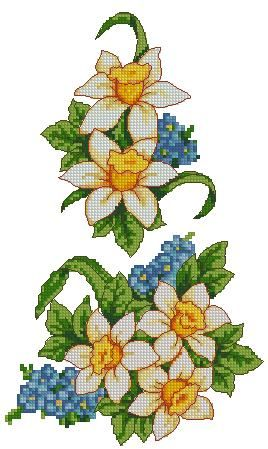 embroidery daffadills | Advanced Embroidery Designs - Daffodil Linen Set.