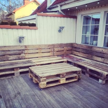 Instructions page - pallet couch and table