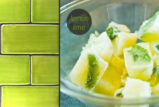 Lemon Lime Subway Tiles. Made in New Zealand by Middle Earth Tiles.