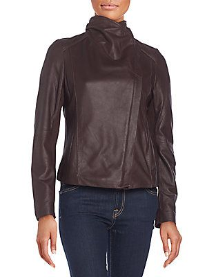T Tahari Andreas Leather Moto Jacket In Black Wishlist
