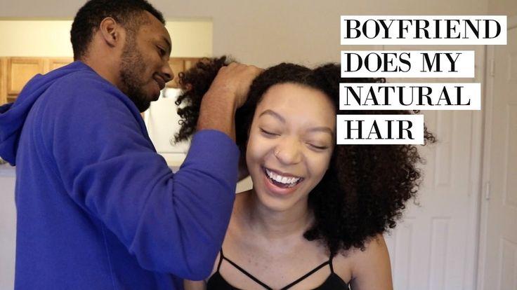 Boyfriend Does My Natural Hair Challenge!