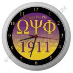 Omega Psi Phi Sunset Clock. Get this at Divine9Marketplace.com  Omega Psi Phi Clock, Omega Psi Phi watch, Omega Psi Phi Wall Clocks, Omega Psi Phi Desk & Shelf Clocks, Omega Psi Phi Portable Clock Radios, Omega Psi Phi Alarm Clocks, Omega Psi Phi Clocks, Omega Psi Phi Plastic, Omega Psi Phi Wood, Omega Psi Phi Metal, Omega Psi Phi Glass,  Omega Psi Phi Analog,  Omega Psi Phi Digital, OMEGA QUE DOG Clock