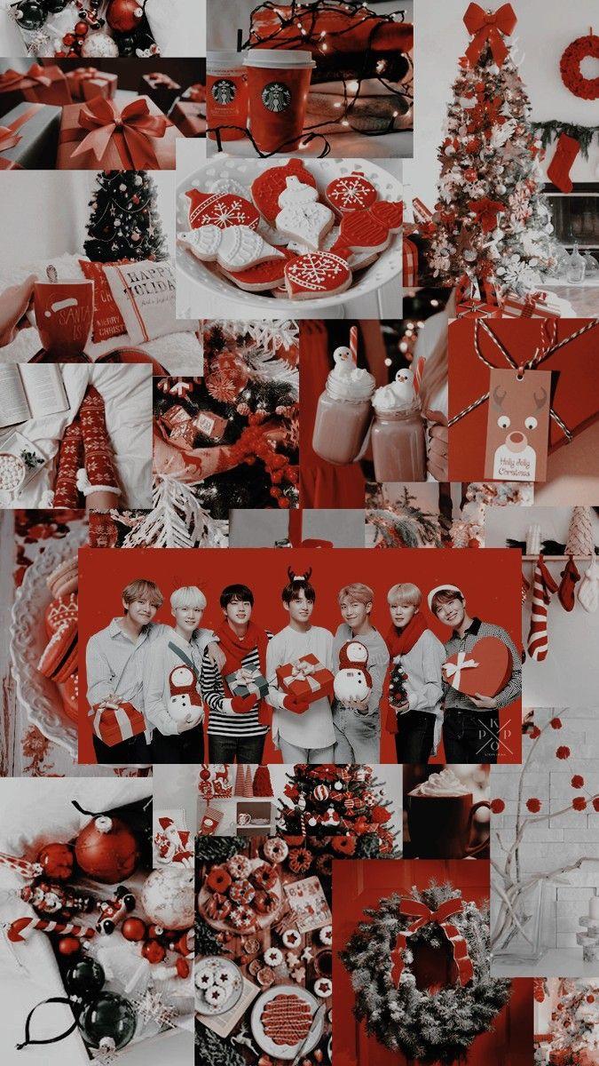 Kpop Locks Christmas Wallpaper Bts Christmas Christmas Phone Wallpaper
