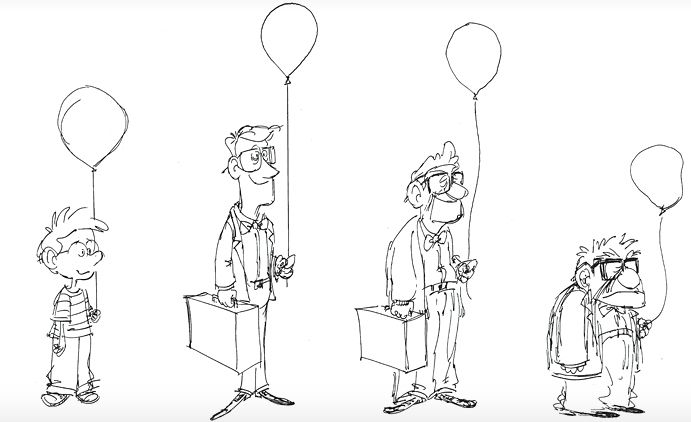 Carl Fredricksen Young - Old sketches | Pixar | Pinterest ...