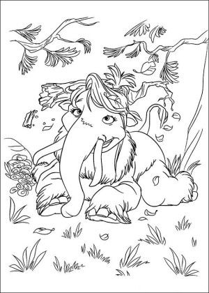 Ice age coloring page 8